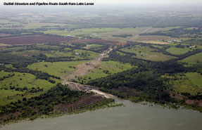 pipeline at Lake Lavon
